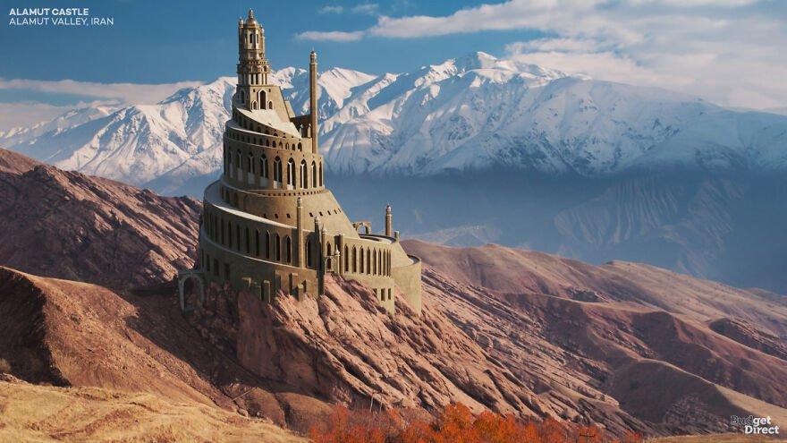 بازسازی قلعه الموت